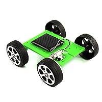 Yisily 車 おもちゃ ミニカー 学生の子供のための科学教育キットとしてDIY組み立ておもちゃソーラーカーキット(緑)1PC