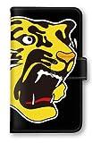 【ノーブランド品】 Arrows Be F-05J 阪神タイガース スマホケース 手帳型 携帯カバー 公認グッズ タイガースロゴ ブラック F-05J ケース