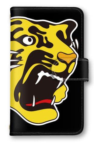 【ノーブランド品】 iphone X 阪神タイガース スマホケース 手帳型 携帯カバー 公認グッズ タイガースロゴ ブラック アイフォン10 ケース