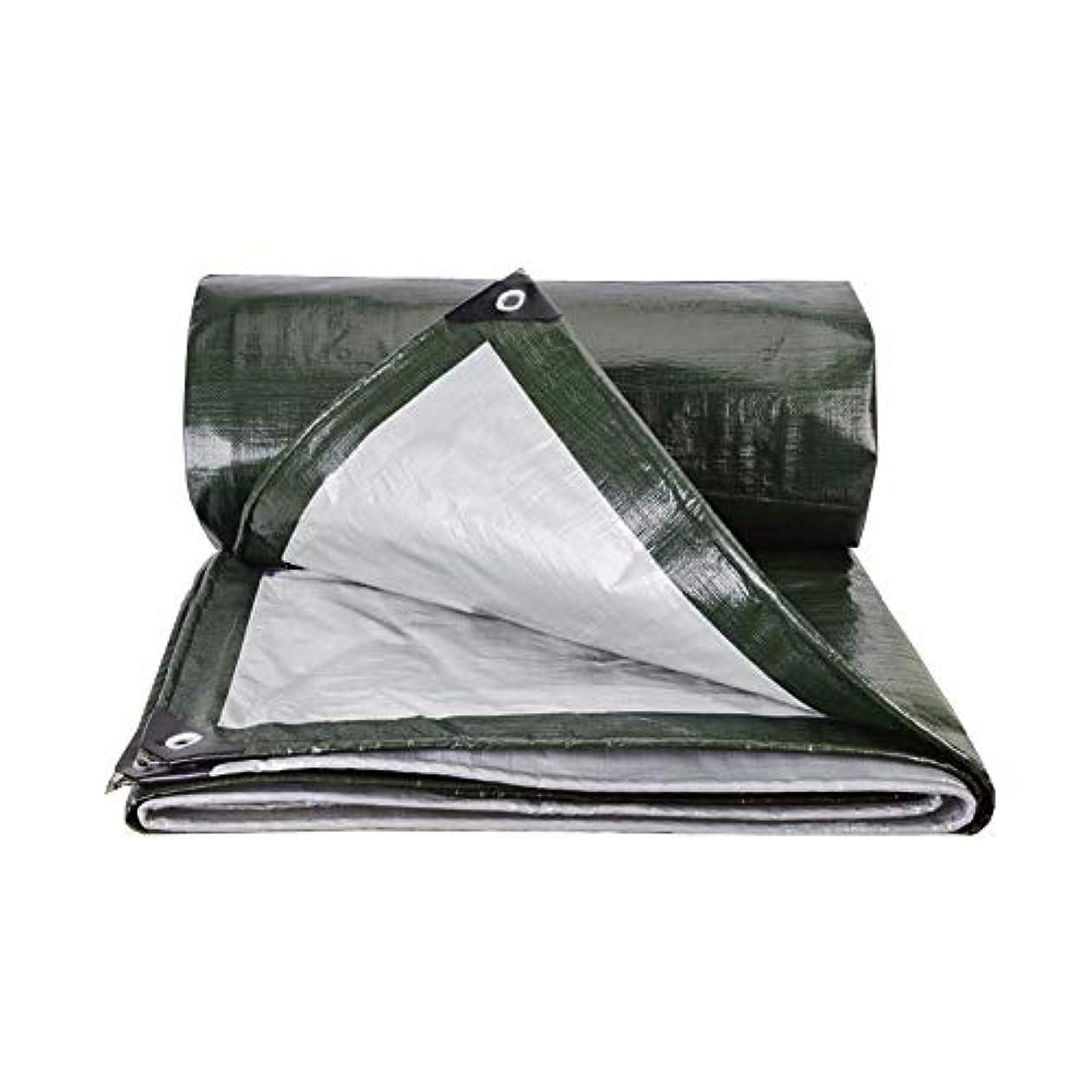 着るレジアクセル防水シートの防水頑丈な防水シート、型抵抗力があるPEのグロメットのキャンプテント FENGMIMG (色 : 濃い緑色, サイズ さいず : 2×3m)