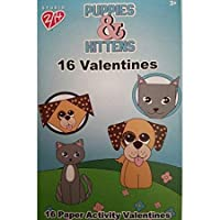 Paper Magic 16CT Studio 2/ 14Puppies and Kittens Paper Activity子供教室Valentine Exchangeカード