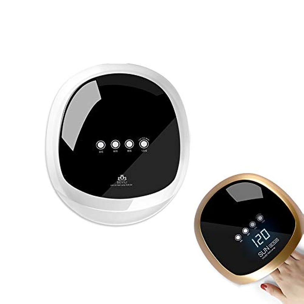 宇宙むちゃくちゃ巨人ジェルネイル UV LED ライト ネイル ネイルドライヤー 赤外線検知 4段階タイマー設定可能 手足兼用 (White)