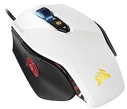 Corsair M65 PRO RGB -White- ゲーミングマウス 『スナイパーボタン 12,000dpiセンサー FPSゲーム向け』 KB377 CH-9300111-NA