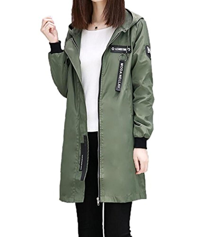 S-XINYスプリングコート レディース ジャケット 薄手 ロング コート 春 防風 通勤 通学 大きいサイズ