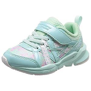[シュンソク] 運動靴 通学履き 瞬足 幅広 衝撃吸収 高反発 15~23cm キッズ 女の子 LEC 5280 サックス 18.5 cm 3E