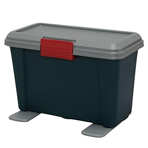 アイリスオーヤマ ボックス RVBOX スリム 450 グレー/ダークグリーン 幅45×奥行24.5×高さ30cm