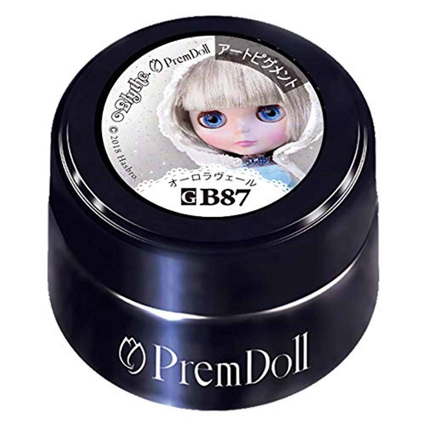 今まで注釈装置PRE GEL プリムドール オーロラヴェール87 DOLL-B87 3g カラージェル UV/LED対応