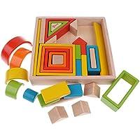 F Fityle 32個パック 赤ちゃん 幼児用 アクリルブロック ビルディングブロック 知育玩具