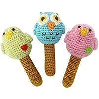 Fair Trade Children's Organic Bird Rattles by Yellow Label Kids