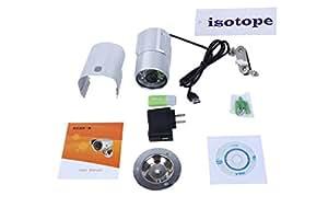 【アイソトープ】防犯カメラ 監視カメラ  マイクロSDカード 録画 赤外線LED24個内蔵 防水 日本語簡易説明書付