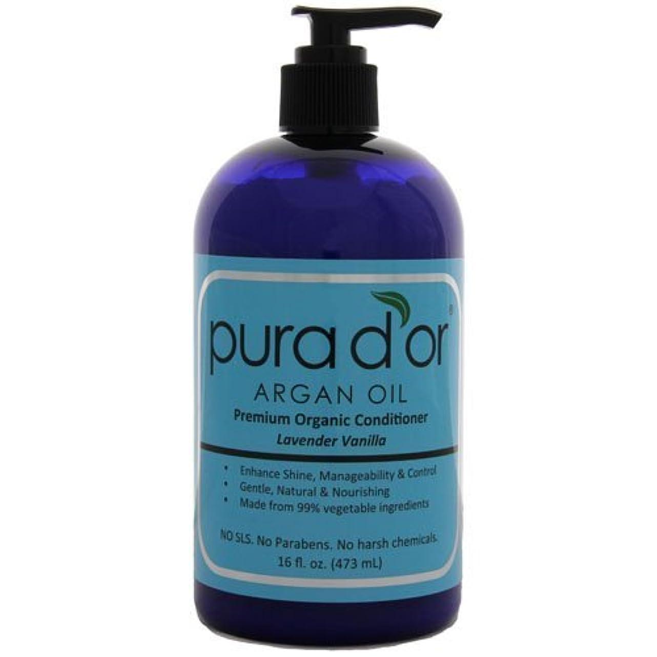 ライセンス透けて見える法令Pura d'or: Premium Organic Argan oil Conditioner for Hair (16 fl. oz.) by Pura D'or [並行輸入品]