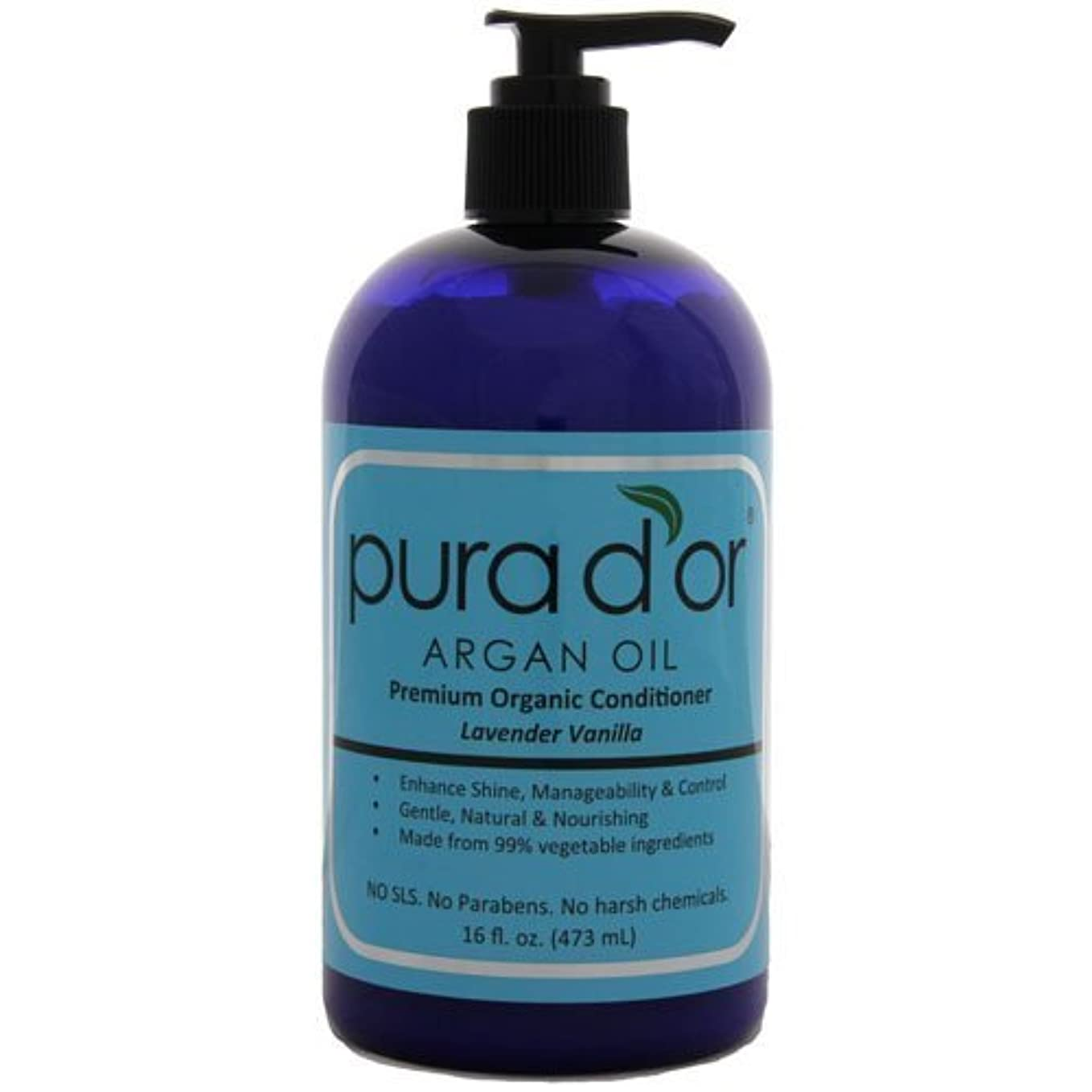 申し込む不満ミニチュアPura d'or: Premium Organic Argan oil Conditioner for Hair (16 fl. oz.) by Pura D'or [並行輸入品]