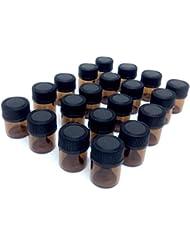 アロマオイル 遮光瓶 精油 小分け用 ガラス製 保存容器 20本 セット (1ml)