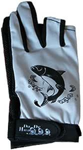 sukragraha 1ペア滑り止め釣りサムインデックスMiddle指なし2指フル保護セミプロテクターCarpenterグローブグレー