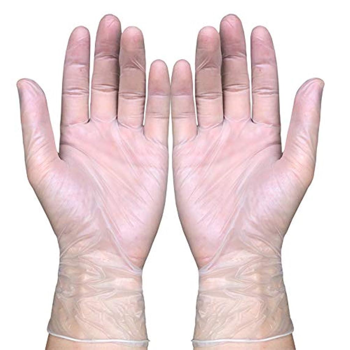 使い捨て医療ビニール検査用手袋、液体、血液、検査、ヘルスケア、食品の取り扱い粉なし、100カウント,S