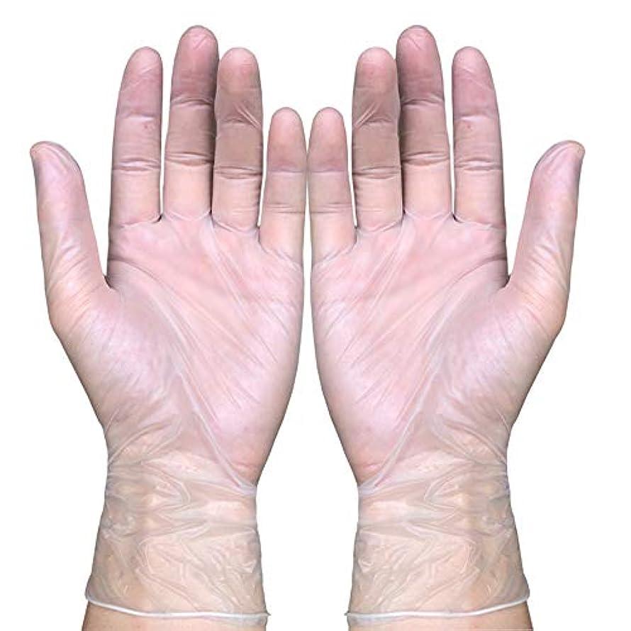 神経障害固有の衰える使い捨て医療ビニール検査用手袋、液体、血液、検査、ヘルスケア、食品の取り扱い粉なし、100カウント,S