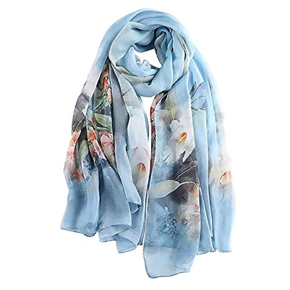 チロ僕の代替案Baobei 秋と冬のスカーフ100%シルクシルクスカーフ女性の夏の長いスカーフは日焼け止めエアコンのショールのスカーフを使用して二重使用 (色 : Style C)