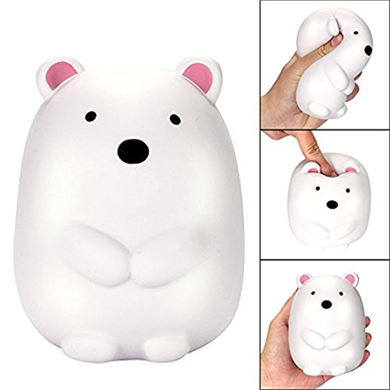ftxj面白い人形、12 cmジャンボSquishy Cute Polar Bearクリーム香りつきSquishies Slow Risingチャームおもちゃ 8.5x8x12cm ホワイト FTXJ -1860513