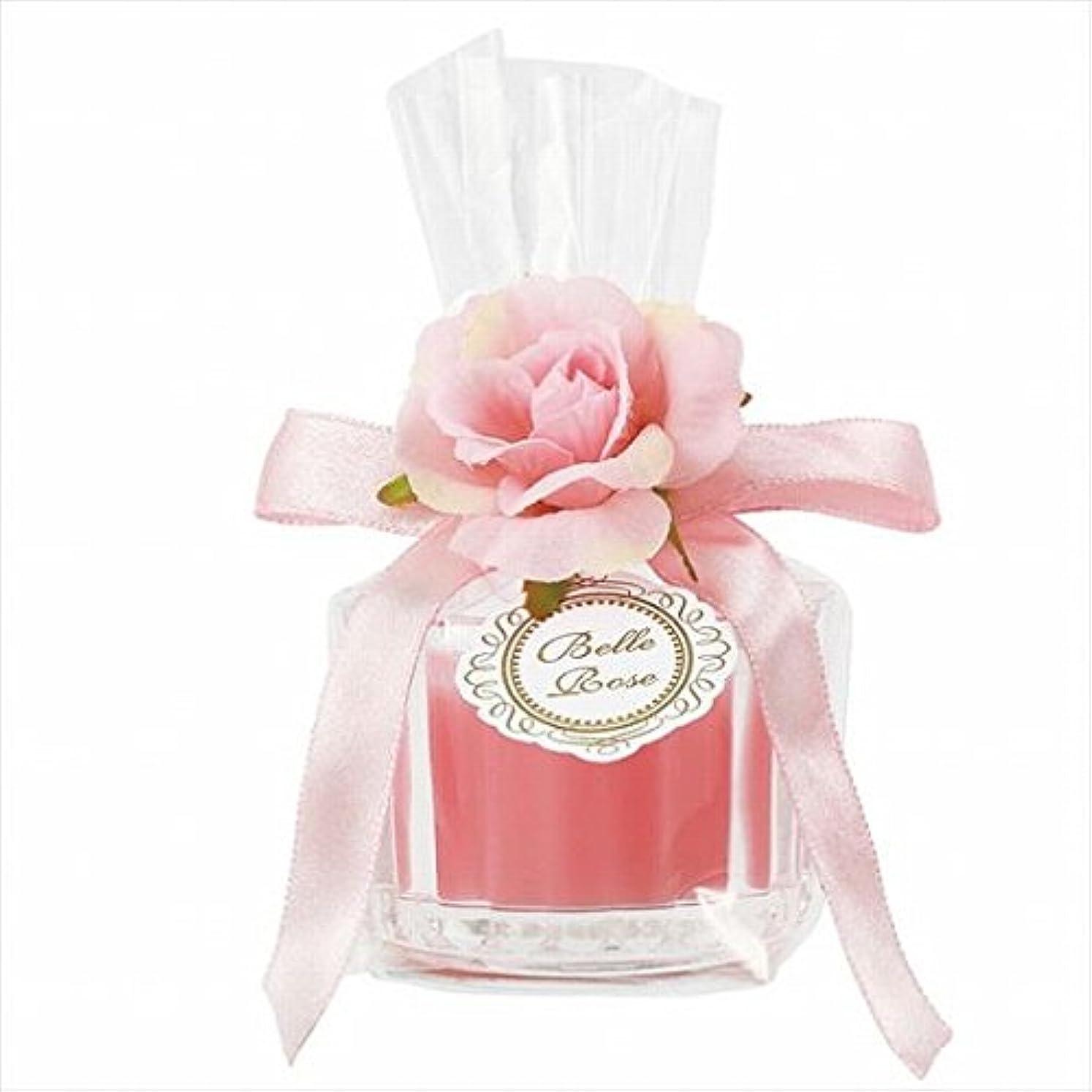 雷雨踏みつけ伝統的カメヤマキャンドル(kameyama candle) ベルローズミニグラス 「 ピンク 」