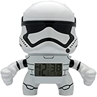 BulbBotz Star Wars Stormtrooper Kids Light up Alarm Clock | White/Black | Plastic | 7.5 inches Tall | LCD Display | boy Girl | Official