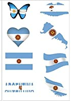 紅葉の屋 アルゼンチンタトゥー 防水シール サッカー応援グッズ 大人気 8点セット