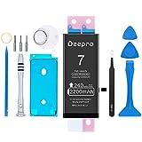 Deepro iPhone7 バッテリー 大容量 交換用キット - 2200mAh 3.82V PSE認証済 2年保証 説明書 工具付