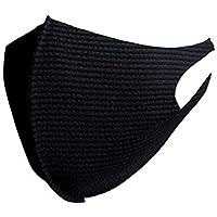 [Amazon限定ブランド] EMPATHY POCKETS 日本製 軽くて通気性の高い ストレッチマスク 洗える クールストレッチマスク お得な同色2枚セット(ブラック, L)