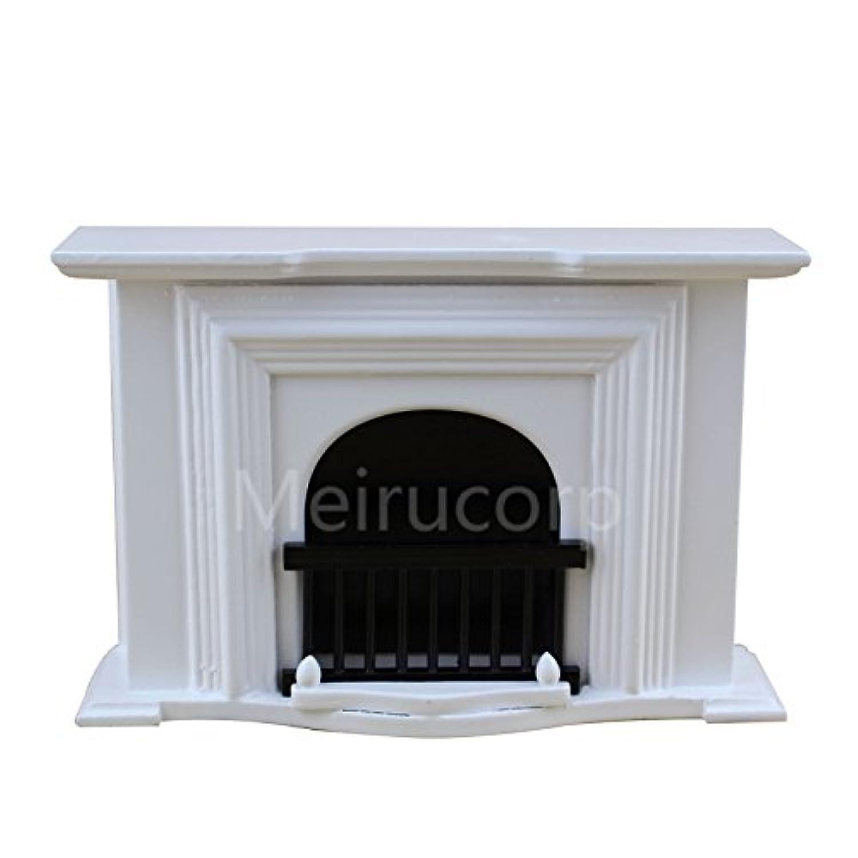 ドールハウスミニチュア家具1 / 12スケールWellハンドメイドホワイト暖炉