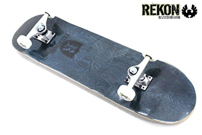 REKON SKATEBOARD COMPLETE SET BLACK/リーコン コンプリートスケートボード セット【7.75x31】高品質カナディアンメイプルウッド使用&ABEC-7ベアリング搭載