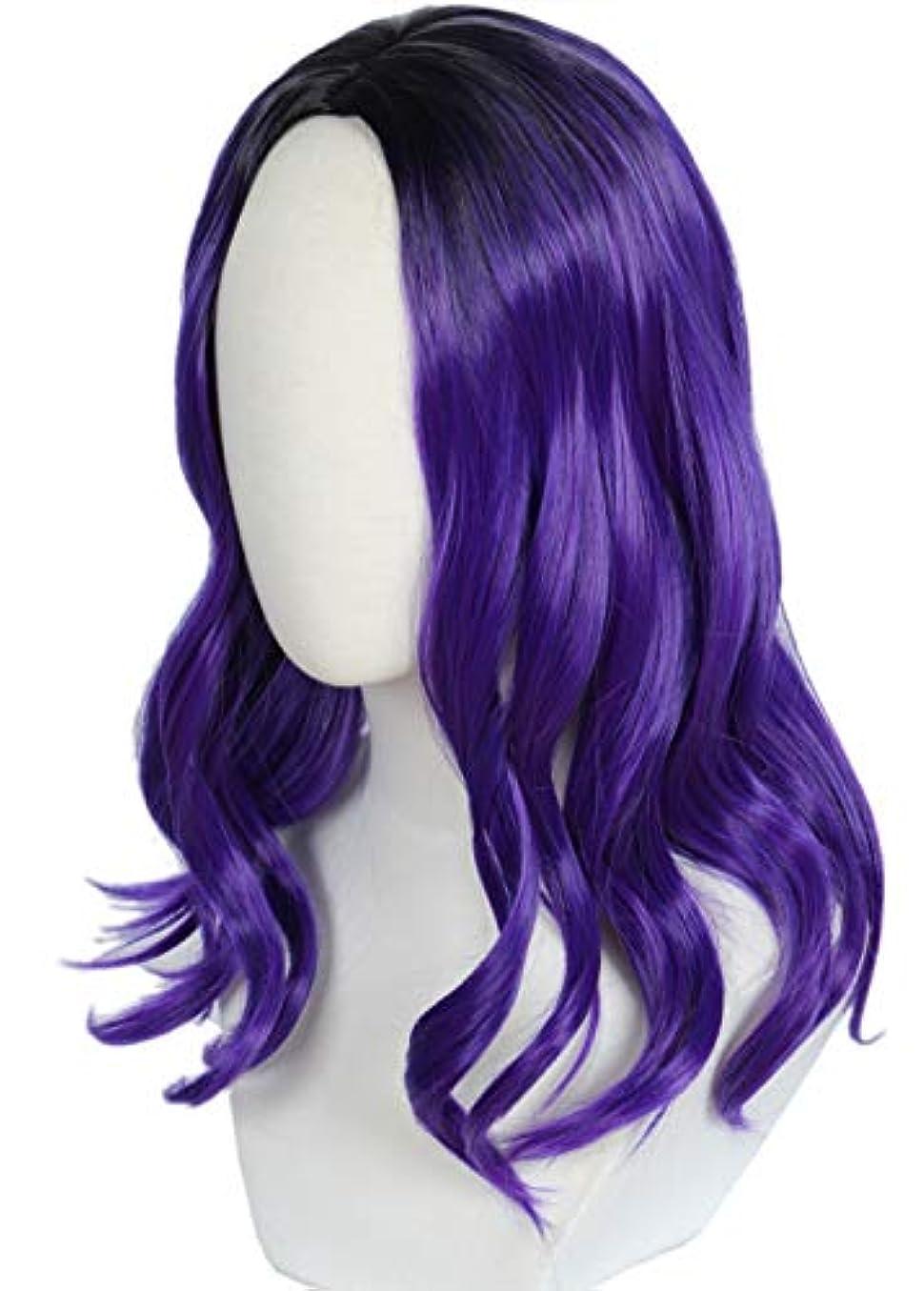 除外する軽減眉Linfairy コスプレ ウィッグ 耐熱 ウィッグ 紫の コスチューム用小物 マル 子供用 319