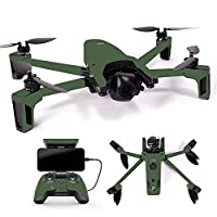 MightySkins スキンデカール ラップ Parrot Anafi Droneコントローラーステッカー ソリッドベビーブルー, Full Drone & Controller Coverage, PAANA-Solid Olive