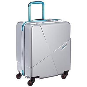[ヒデオワカマツ] スーツケース マックスキャビン2 ポリカーボネート100% 容量42L 縦サイズ50cm 重量3kg 85-76175 5 シルバー シルバー