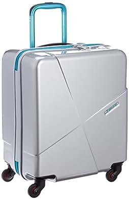 [ヒデオワカマツ] HIDEO WAKAMATSU スーツケース マックスキャビン2 50cm 42L 機内持ち込み可 ポリカーボネート100% 85-76175 5 (シルバー)