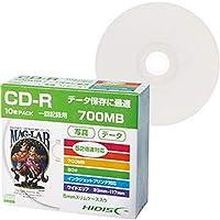 ==まとめ== ハイディスク・データ用CD-R700MB・52倍速・ホワイトワイドプリンタブル・5mmスリムケース・HDCR80GP10SC1パック-10枚-・-×10セット-
