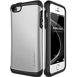 iPhoneSE / 5s / 5 ケース 耐衝撃 VRS DESIGN HARD DROP 米軍MIL規格取得 衝撃吸収 二重構造 ハイブリッド スリム カバー [ アイフォン SE / 5s / 5 専用 ] ライトシルバー