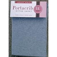 Kids Line Jersey Knit Fitted Porta Crib Sheet - Chambray Blue by KidsLine