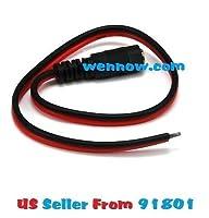 Wennow 10インチ30cm2.1X 5.5MM DC電源ピグテールメスプラグ