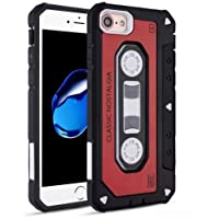 iPhone 7/8 Case Mybat Cassette Dual Layer [Shock Absorbing] Protection Hybrid PC/TPU Rubber Case Cover For Apple iPhone 7/8 Red/Black [並行輸入品]