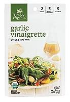 Simply Organic Salad Dressing Mix, Garlic Vinaigrette, (Pack of 12)