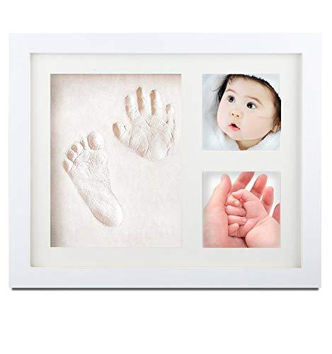 SEPOVEDA手形赤ちゃん 足型 赤ちゃんべびーフレーム記念品、フォトフレーム 置き掛け兼用、 無毒で安全粘土、出産祝い 内祝い ベビー記念品