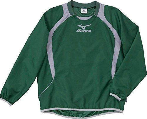 (ミズノ)MIZUNO フットボール ジュニア ウインドブレーカーシャツ 62WS275 33 グリーン×グレー 140