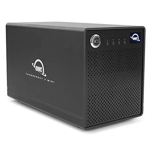 【国内正規品】 OWC ThunderBay 4 mini(OWC サンダーベイ 4 ミニ)2.5インチドライブ4ベイ / Thunderbolt 3 ×2ポート / 外付けドライブケース (0TB ケースのみ, RAID 0,1)
