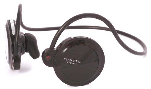 BLUENEXT ELANVITAL ワイヤレスステレオヘッドセット EVSH-02 ブラック EVSH-02BK