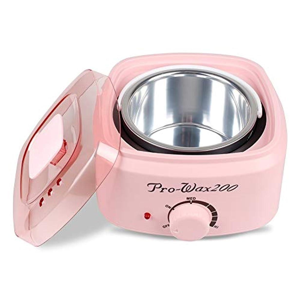 倉庫カートラウズワックス脱毛ツールプロフェッショナルウォーマーワックスヒータースパ手足脱毛器D脱毛スキンケアパラフィンワックスマシンために女性と男性500CC (Color : Pink)