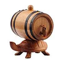 純木樽 - 手彫りのアートオーク樽/アルコール、オーク樽とクラフトバケツ(0.75L) - 24cm / 33cmX16cm / 29cmX25.5cm / 32cm(ゴールデンタートル) (Size : Small)
