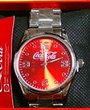 コカコーラ コカ・コーラ メタルウォッチ 時計 赤/シルバー色