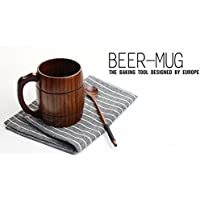 Eco FriendlyハンドクラフトDIY木製ミルクコーヒーマグJujube木製ティーカップビールタンブラーマグW /ハンドル水カップGood for Health