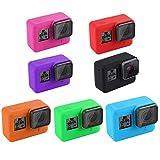 ACHICOO シリコンカメラケース 保護カバー ブラック GoPro Hero 7用 ローズレッド