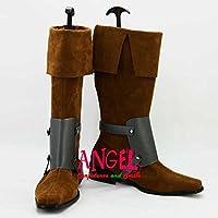 【サイズ選択可】女性22.5CM B1B00126 コスプレ靴 ブーツ ディズニー 塔の上のラプンツェル Tangled フリン・ライダー Flynn Rider