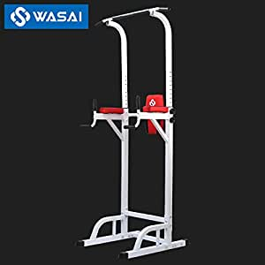 WASAI(ワサイ) ぶら下がり健康器 懸垂マシーン MK580 耐荷重150kg 筋肉トレーニング 器具 (白)